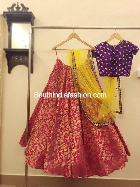 Party Wear Lehengas and Crop Tops by Ashwini Reddy  South India Fashion