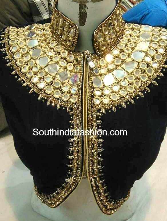High Neck Designer Blouses South India Fashion