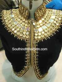 High Neck Designer Blouses South India Fashion