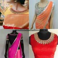 Boat Neck Blouse ~ Fashion Trends ~  South India Fashion