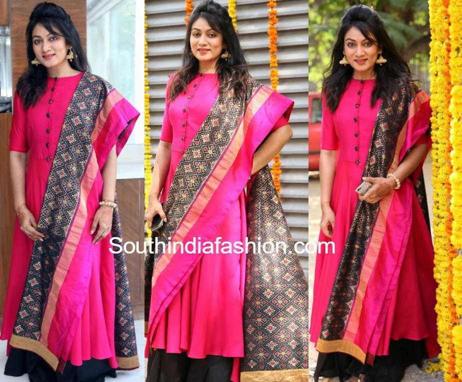 Ashmita Karnani in a pink kurta and Ikat dupatta –South ...