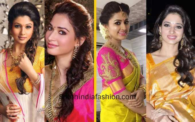 5 best hairstyles when you are dressed in a silk saree!!