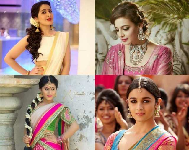 ten traditional hairstyles to complete your half saree look