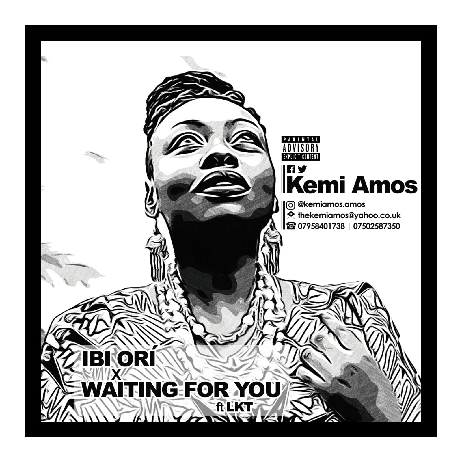 Kemi Amos – Ori + Waiting For You Ft. LKT Artwork