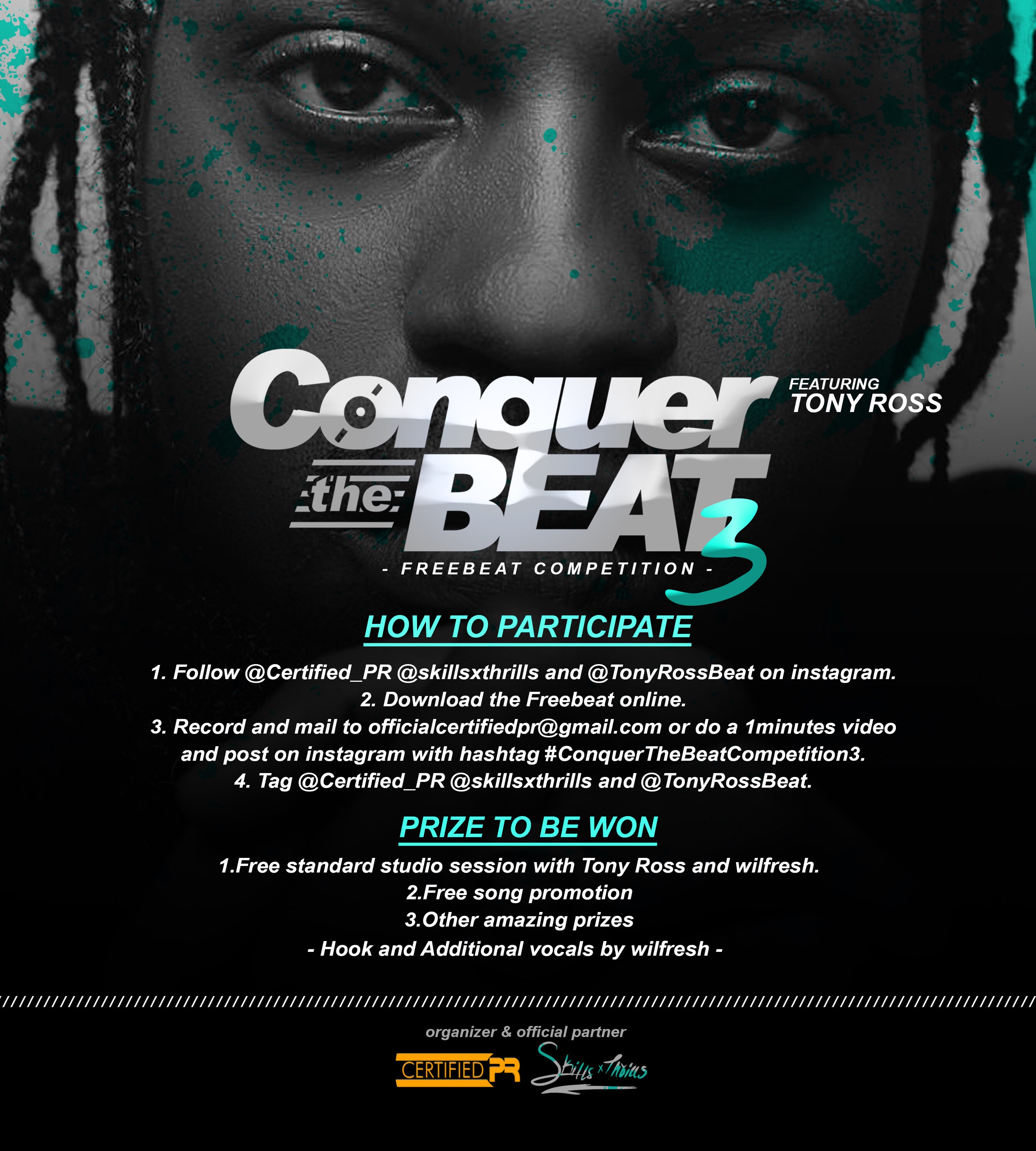 Certified pr – Conquer the beat 3 artwork