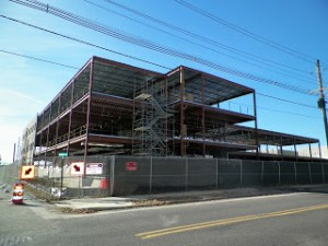 Photo by Anne Forline Construction continues on the new middle school.
