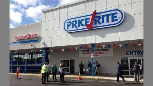 Camden Price Rite Supermarket Opened in 2014. Considered a food desert, Camden welcomed its first new supermarket in years. (KYW NewsRadio photo/Mike DeNardo)]