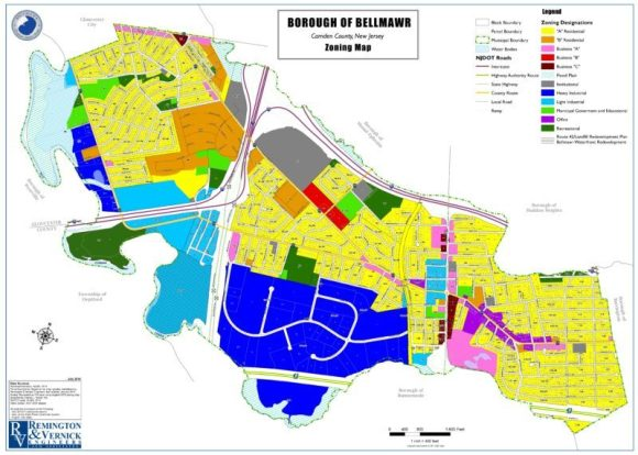 Bellmawr News Borough of Bellmawr Zoning Map
