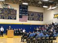 Addressing the graduates is LTC Fred Madden (Ret.) who is also the Director of the Gloucester County Police Academy.
