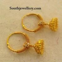 Kids Gold Jhumkas - Jewellery Designs