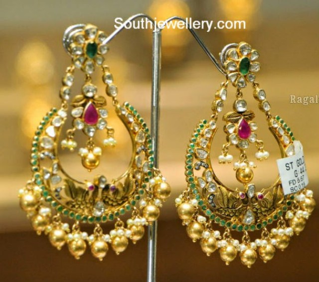 balis earrings designer chand balis jewellery designs 8834