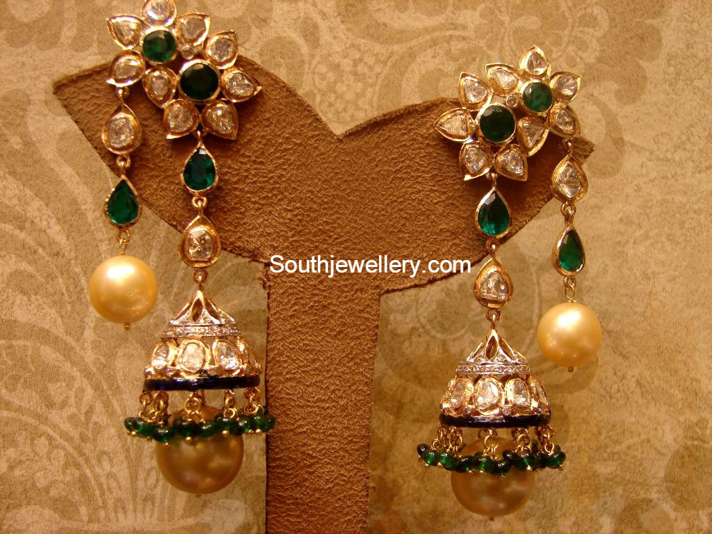Uncut Diamond Earrings latest jewelry designs