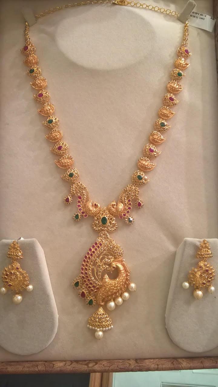 Uncut Diamond Mango Haram  Jewellery Designs