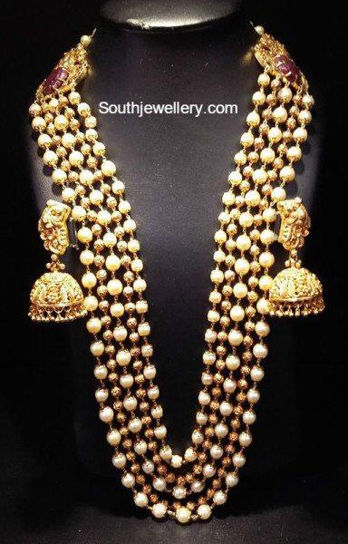 Nakshi Balls And South Sea Pearls Mala Jewellery Designs