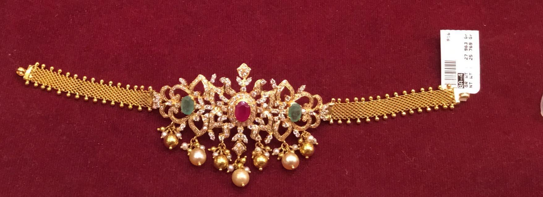 Cz Choker Cum Bajuband Jewellery Designs