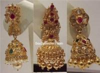 Gold Jhumka Designs - Jewellery Designs