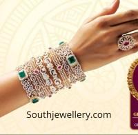 Diamond Bangle Designs by GRT Jewellers - Jewellery Designs