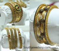 Antique Gold Bangles by Malabar Gold and Diamonds