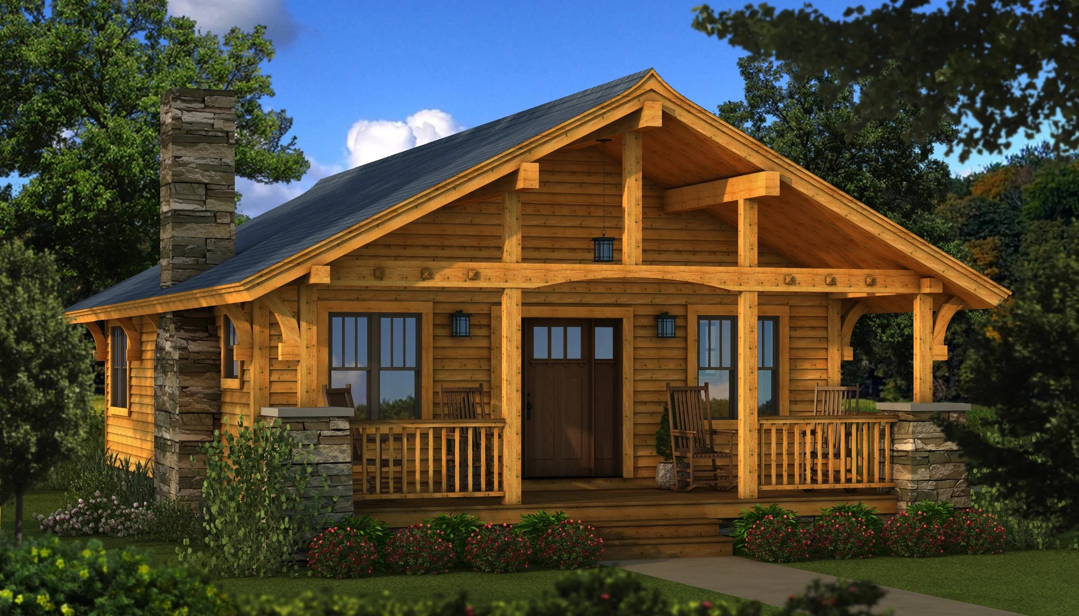 Bungalow 2  Plans  Information  Southland Log Homes