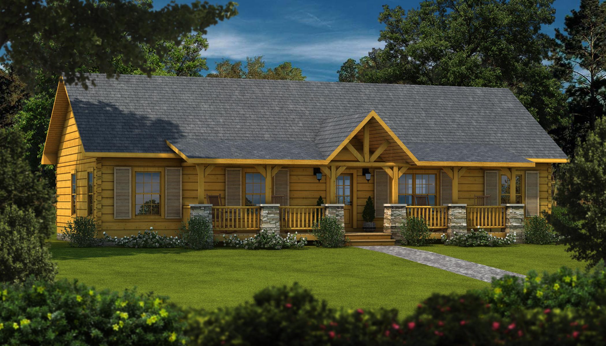 Laurens II  Plans  Information  Southland Log Homes