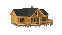 Log Cabin Home Floor Plans with Garage