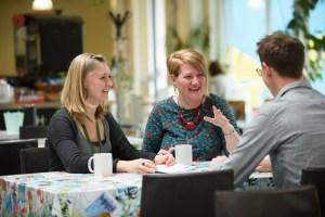 Cafe conversation wellbeing