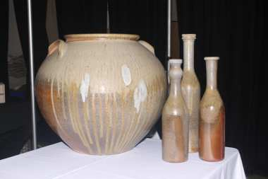 Pieces by potter David Stuempfle.