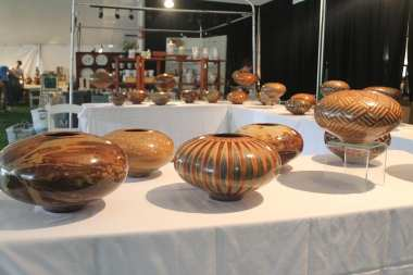 Pieces by Jim Whalen of Paradox Pottery.