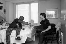 Justus Shaw and Jeff Gordon at Levines Children Hospital on May 17, 2012 in Charlotte , North Carolina.