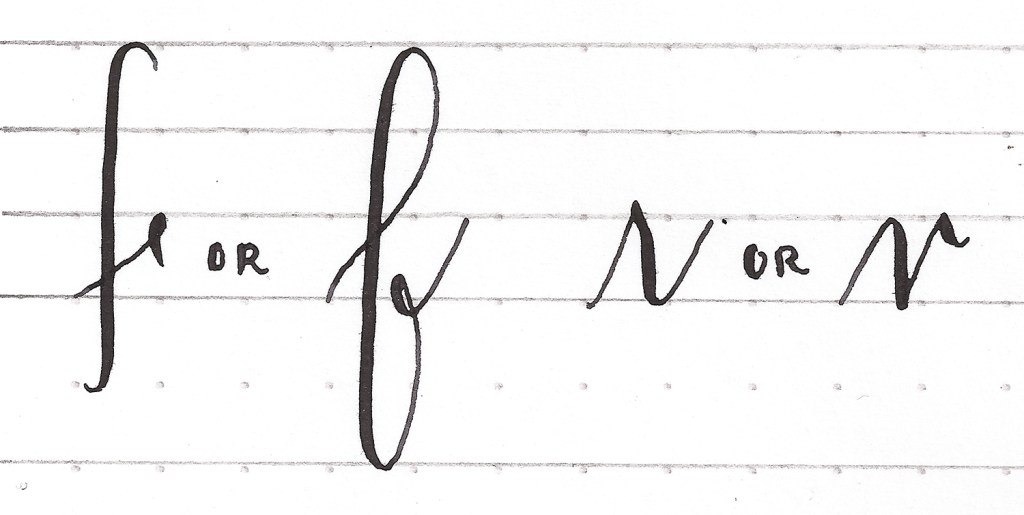Alternative lowercase f and r | Modern Calligraphy Basics