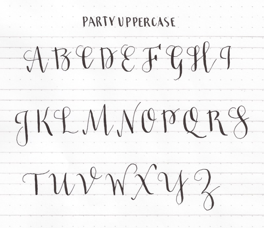 Modern Calligraphy Basics Let S Learn Our Aabbcc S