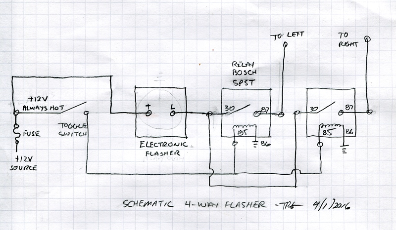 4 Way Flasher Wiring Diagram FULL HD Version Wiring
