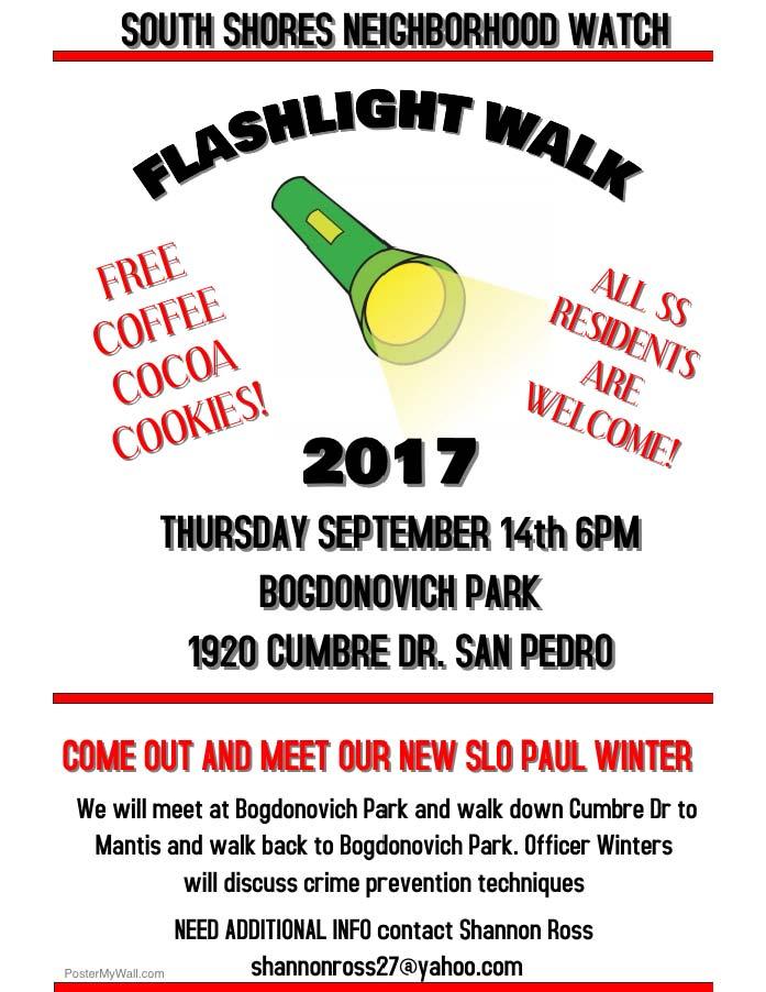 flashlight walk flyer