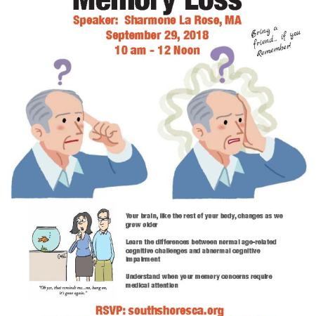 memory loss workshop flyer