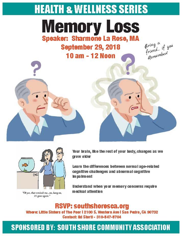 memory loss workshop flyer