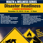Disaster Readiness Workshop 11/23