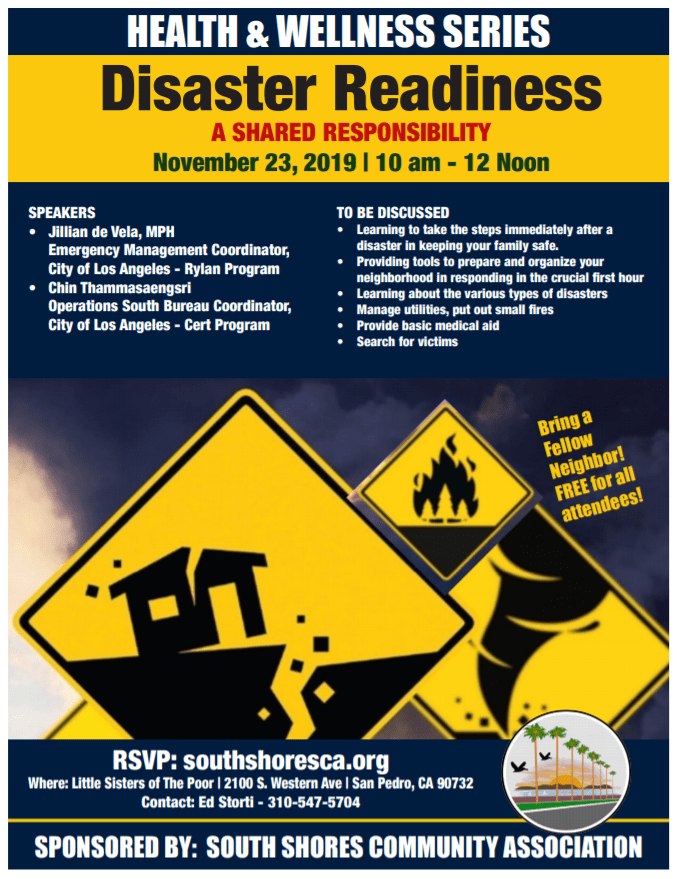 disaster readiness flyer