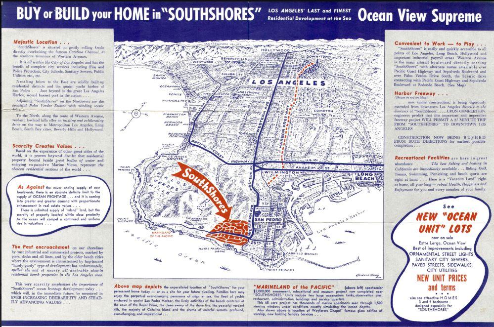 1955 south shores brochure - page 1