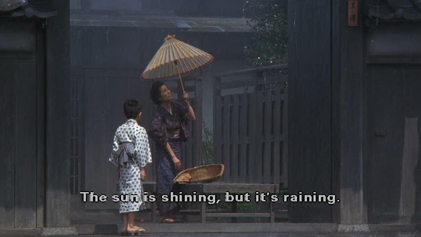 Sunshine through the rain sequence