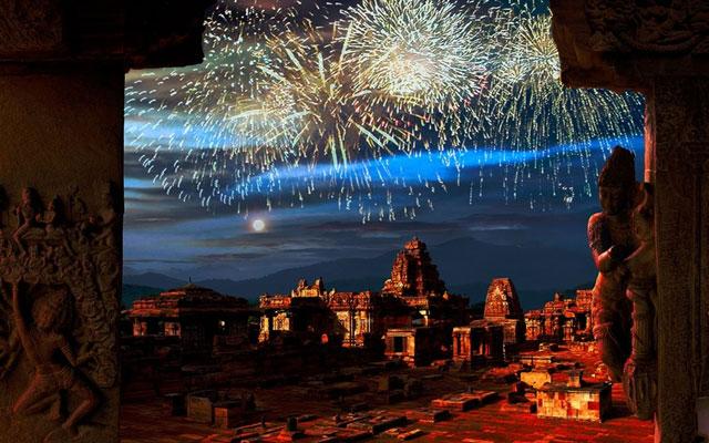 Diwali celebration in Hampi Karnataka