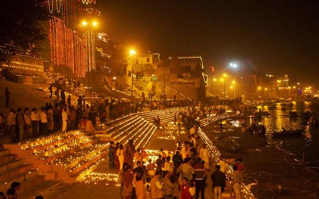 Diwali celebration in Varanasi