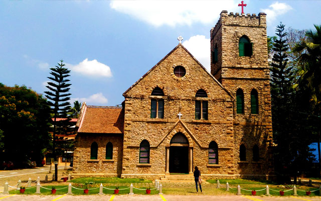 Front view of the Mateer Memorial Church in Kerala