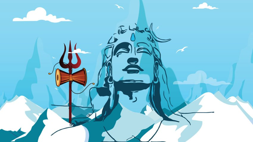 Illustration of Lord Shiva