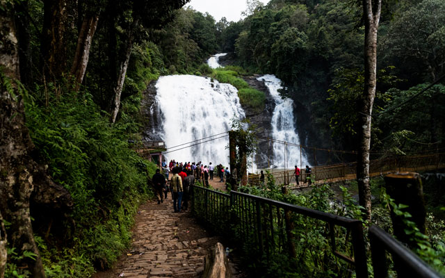 A beautiful view of Abbey waterfalls in Coorg, Karnataka