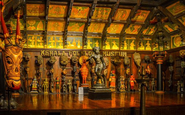 Interior view of Kerala Folklore Museum in Kochi