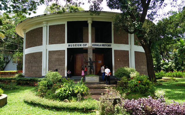 Front view of Kerala Museum (also known as the Museum of Kerala History) at Edapally, Kochi, India