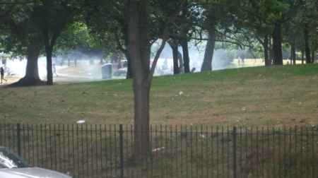 BBQ smoke fills Burgess Park