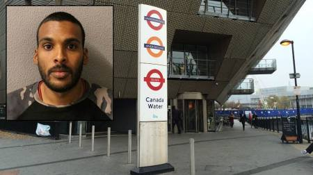 Courtney Mahamedally, of Clifton Road, N1, was jailed for six months for sexually assaulting a nineteen year old woman and punching a rail worker at Canada Water Station
