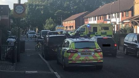 A seventeen-year-old boy was taken to hospital with a head injury after police and ambulance crews were called to Bramcote Grove in Bermondsey (Rosaleen Fenton)