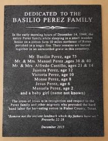 Basilio Perez Family Borderless aluminum plaque